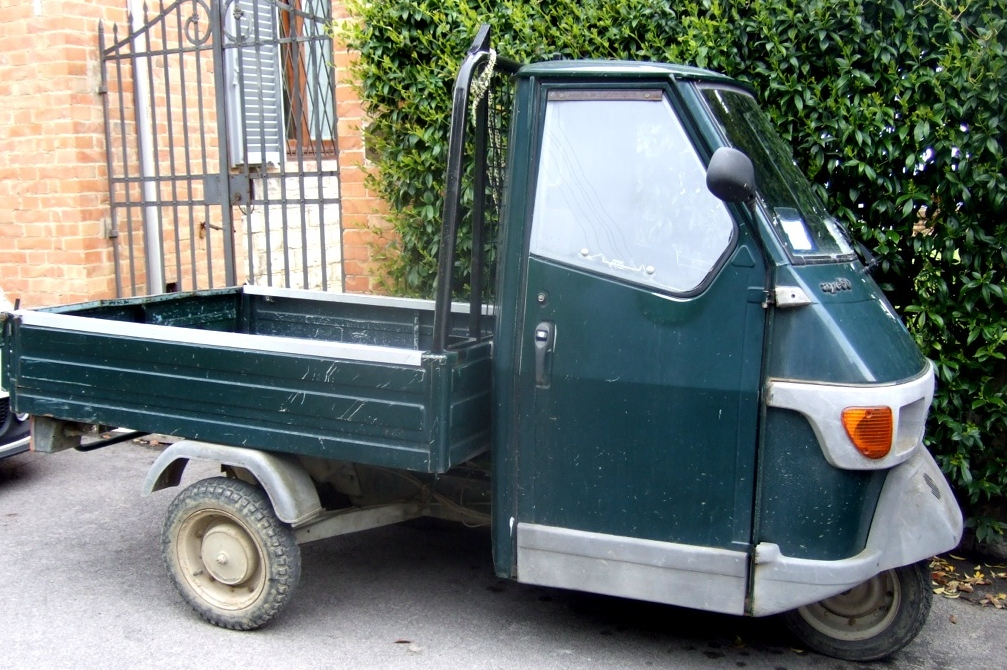 Small Trucks in Italy Otherwise known as APES Margie in Italy